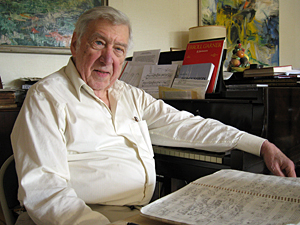 Modern hero: Gunther Schuller (NPR photo by Andrea Shea)