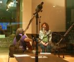 Robert & Deb recording in the VPR studio
