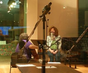 Robert & Deb recording in the VPR studio
