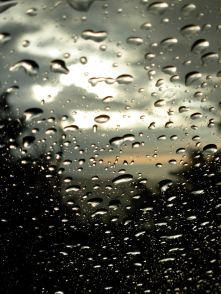 6/26/09 - rainy sunset on Rt. 17