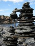 creative cairn, Meat Cove